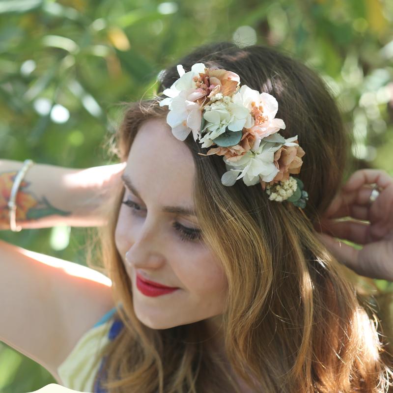 Tocados diadema flores para fiesta y boda