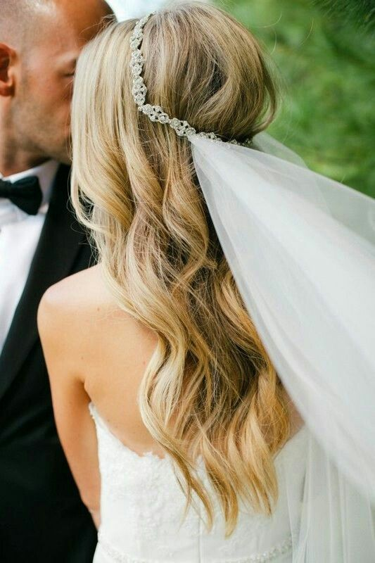 Tocados para el pelo suelto para novias